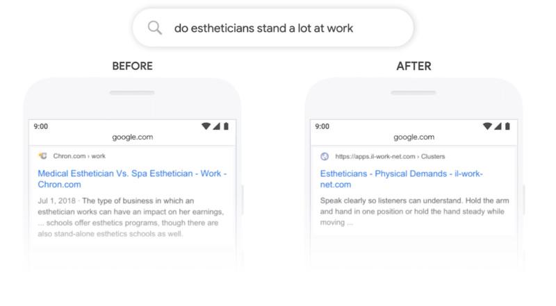 Google BERT esempio