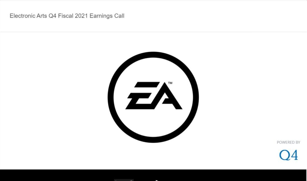 Electronic Arts Reports Q4 and FY21 Financial Results