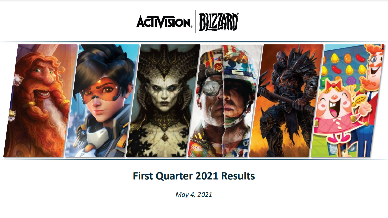 Activision Blizzard First Quarter Calendar 2021 Results